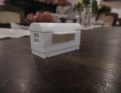 Modell-Bauwagen